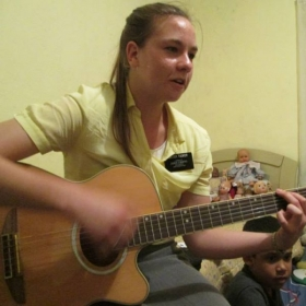 Yes, I actually play guitar. I was able to play it at someobody's house when I was a missionary in Brazil.
