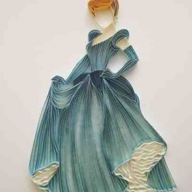 Quilled paper princess
