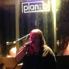 Me performing at a club called plan b in carson city