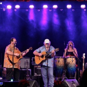 With a Jimmy Buffett acoustic tribute, opening for Pablo Cruise and Tesla. This was at a benefit for two local charities.