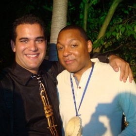 With one of my favorites trumpet players Mr Wynton Marsalis ;Havana 2010