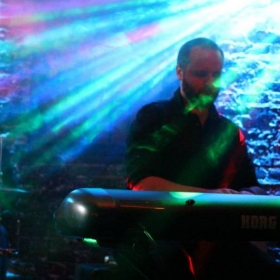 Playing piano on stage for a show in the valley. Jazzy stuff. Those lights gave me a headache.