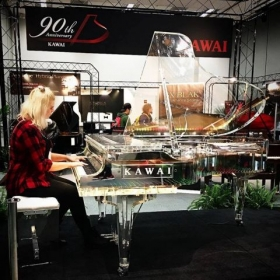 Playing at the Kawai pianos exhibit at NAMM 2017 in Anaheim!