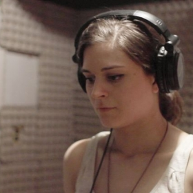 "Star of ""Crashlight"" in the studio recording official Off-Broadway album"