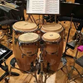 "Part of my setup from when I performed ""Threads,"" a percussion quartet by Paul Lansky in 2016"