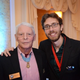 With Medal of Honor recipient Lieutenant Colonel James Mike Sprayberry.