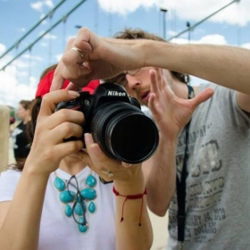 Practice of street photography with students Vira, Nimi, Mike, Susan, Jessica