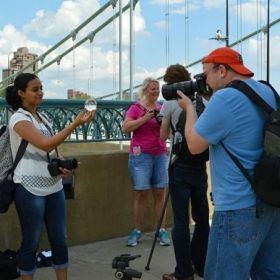 Practice of street photography in Minneapolis, MN, USA, with students Mike, Nimi, Vira, Jessica, Susan.