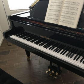 If you come to my home. You'll play on a real grand piano!