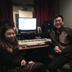 Vocal coaching and producing in the studio with another emerging artist!