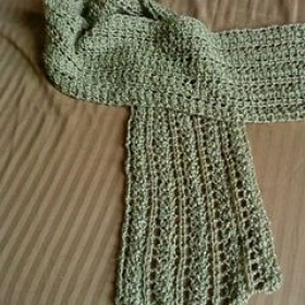 Knitted scarf - openwork/lace