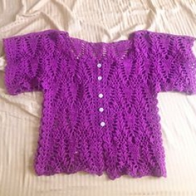 Crocheted summer cotton cardigan