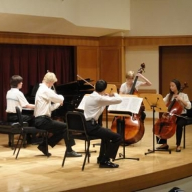 Performance of Schubert's Trout Quintet at the Lamont School of Music!