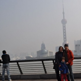 My family and I in Shanghai, China