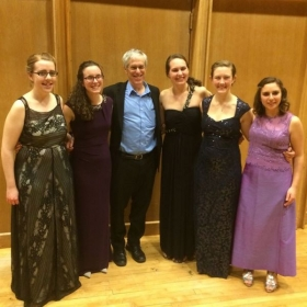 The Nota Bene Wind Quintet with Daniel Dorff at our final recital at the University of Delaware