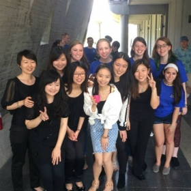 With the flute studio of Tunghai University