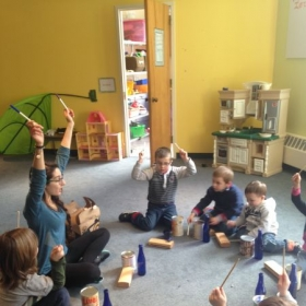 Teaching music at pre-school. Boston Cathedral Greek School (2015-16).