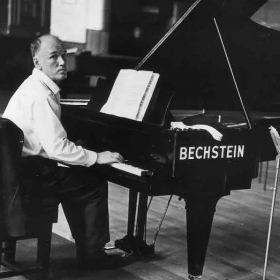 The great Russian pianist Sviatislav Richter at his beloved Bechstein.