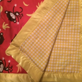 Monkey and Banana Baby Blanket