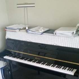 weber studio upright piano