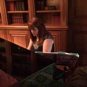 Playing jazz and love songs for a reception. You can play too!  Let me teach you to play piano.