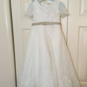 Holy communion dress that was made from a wedding dress.