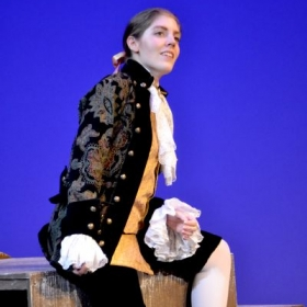 Singing the role of the Composer in Ariadne auf Naxos with the Kingwood Summer Opera, July 2014
