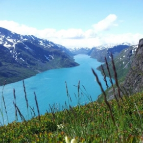 Beautiful fjord in Jotunheimen, Norway