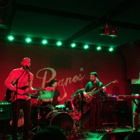 Performing live at Pianos in New York City (that's me on the left).