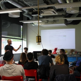 My IoT programing and arduino Workshop at FabLab Berlin in Berlin.