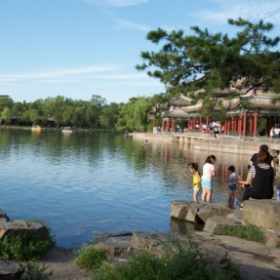 Beautiful summer scenery of Mountain Resort, Chengde, Hebei