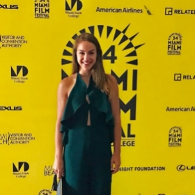 "Screening of ""At Your Service"" for the Miami Film Festival 2017. Tatum played the principal role of Anna Silverman."