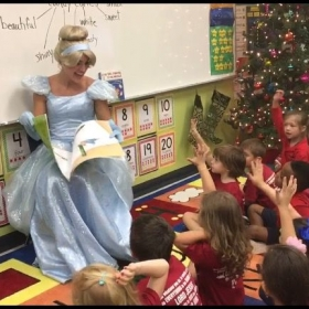 Volunteering with SAG Book Pals Foundation. Performers visit schools to read and play with children as different Disney characters.