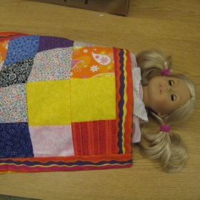 Doll quilt - student work