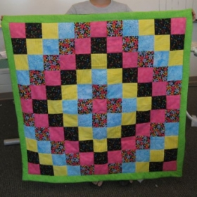 Trip Around the World - student quilt - summer quilting camp
