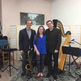 Post-performance with my jazz trio.
