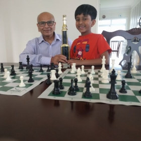 Photo of my student who recently won his chess tournament. Couldn't be more proud of my student.