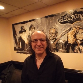 Backstage at B.B.King`s in Times Square after my gig.