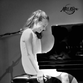 Piano student, Guilianna, performing Fur Elise at The Steinway and Sons Piano Gallery of Beverly Hills