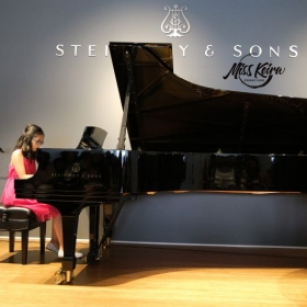Piano student Alyssa, performing In My Life by The Beatles