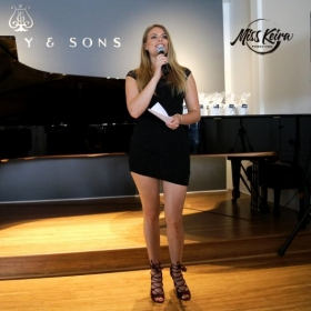 Recording artist April Kae, hosting Miss Keira Productions Spring Recital at The Steinway and Sons Piano Gallery of Beverly Hills