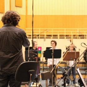 Directing and recording boy trebles from the Hungarian Opera Chorus
