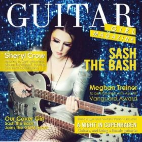 Me as the cover girl for Guitar Girl Magazine, who I am also a contributing writer for.