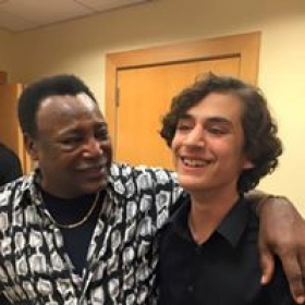My piano student meets legendary George Benson