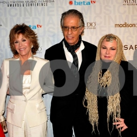 With Jane Fonda the night I was nominated for the HMMA Award for best Pop Song