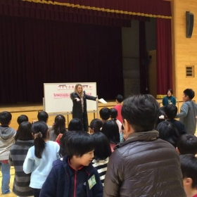 Teaching an English after school program to elementary school children.