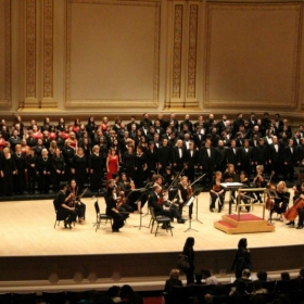 Singing on stage at Carnegie Hall in NYC!