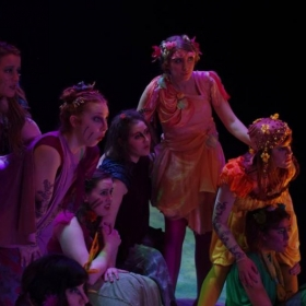 Singing a soprano role in an opera! It was so fun to portray a fairy!