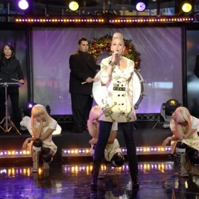 Performing on Good Morning America with Gwen Stefani