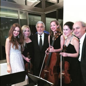 After a performance with Placido Domingo